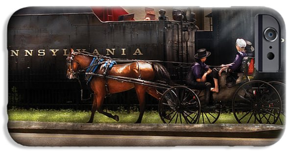 Amish Family iPhone Cases - City - Lancaster PA - You got to love Lancaster iPhone Case by Mike Savad