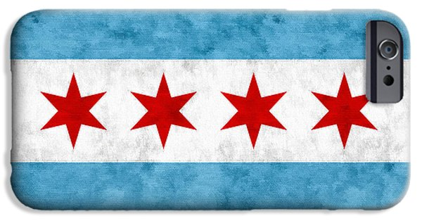 IPhone 6 Case featuring the mixed media City Of Chicago Flag by Christopher Arndt