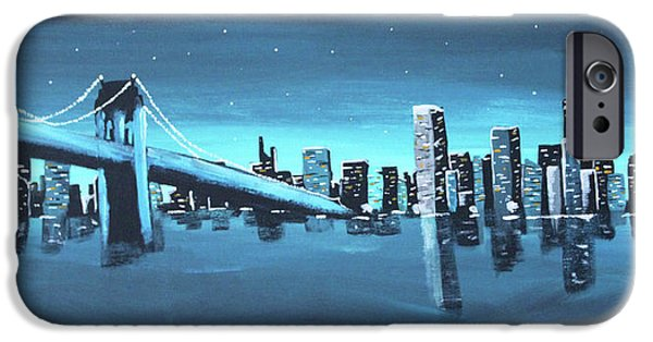 City Skyline IPhone 6 Case by Cyrionna The Cyerial Artist