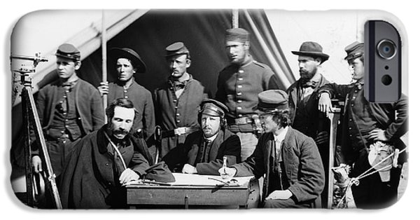 Yorktown Virginia iPhone Cases - Civil War: Engineers, 1862 iPhone Case by Granger