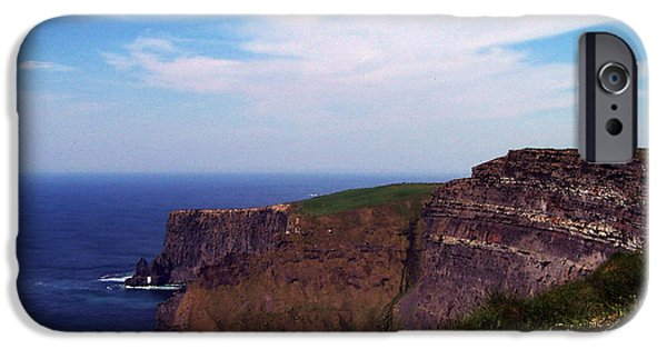 Irish Photographs iPhone Cases - Cliffs of Moher Aill Na Searrach Ireland iPhone Case by Teresa Mucha