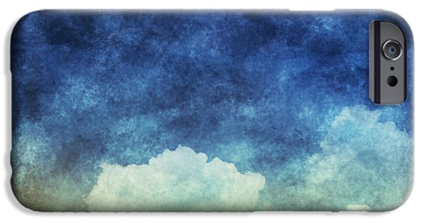 Clouds Pastels iPhone Cases - Cloud And Sky At Night iPhone Case by Setsiri Silapasuwanchai