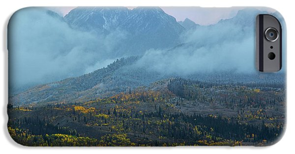 IPhone 6 Case featuring the photograph Cloudy Peaks by Aaron Spong