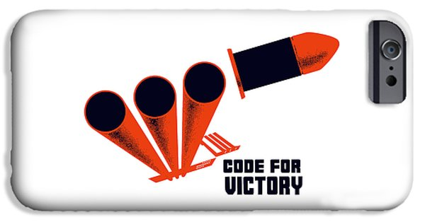 illery Mixed Media iPhone Cases - Code For Victory - WW2 iPhone Case by War Is Hell Store