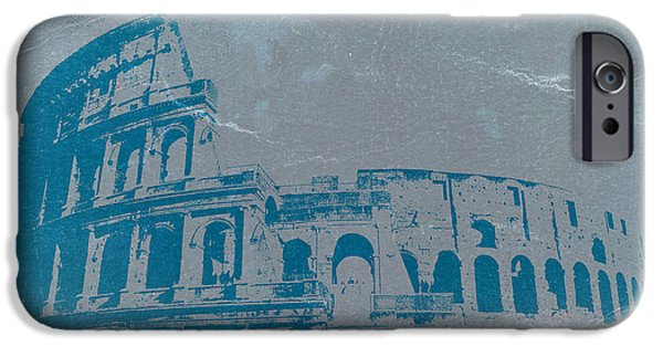 Vatican iPhone Cases - Coliseum iPhone Case by Naxart Studio