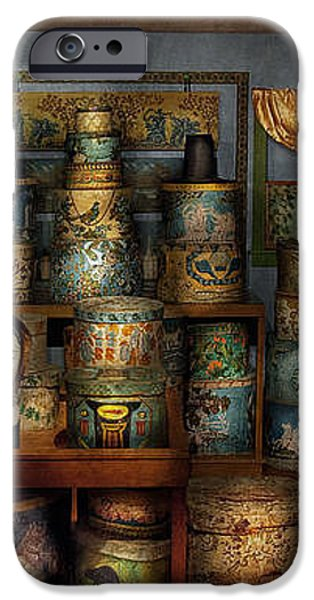 Collector - Hats - The hat room iPhone Case by Mike Savad