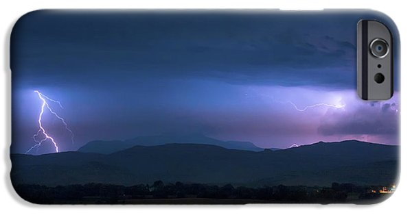 IPhone 6 Case featuring the photograph Colorado Rocky Mountain Foothills Storm by James BO Insogna
