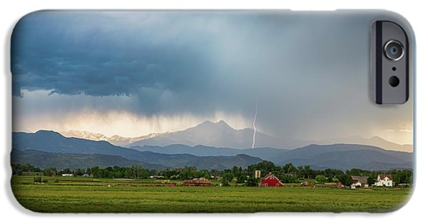 IPhone 6 Case featuring the photograph Colorado Rocky Mountain Red Barn Country Storm by James BO Insogna