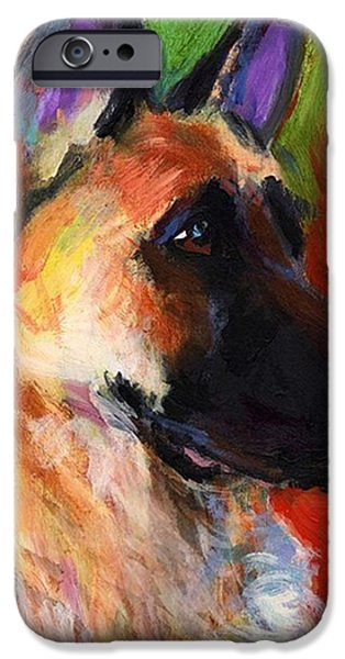 iPhone 6 Case - Colorful German Shepherd Painting By by Svetlana Novikova