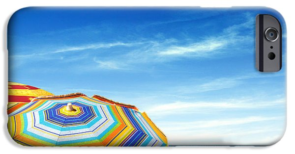 Red Abstract iPhone Cases - Colorful Sunshades iPhone Case by Carlos Caetano
