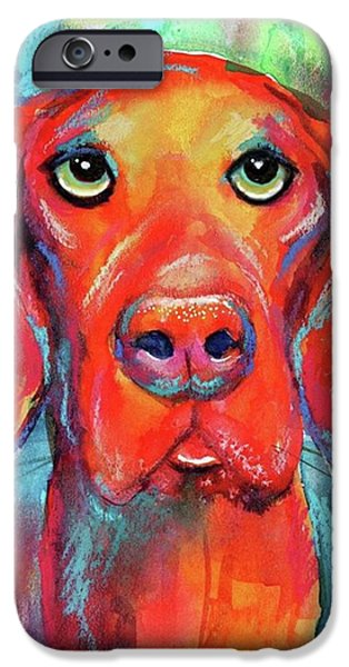 Colorful Vista Dog Watercolor And Mixed IPhone 6 Case