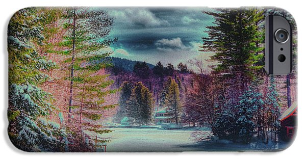 IPhone 6 Case featuring the photograph Colorful Winter Wonderland by David Patterson