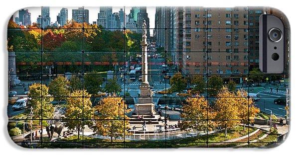 Warner Park iPhone Cases - Columbus Circle iPhone Case by S Paul Sahm