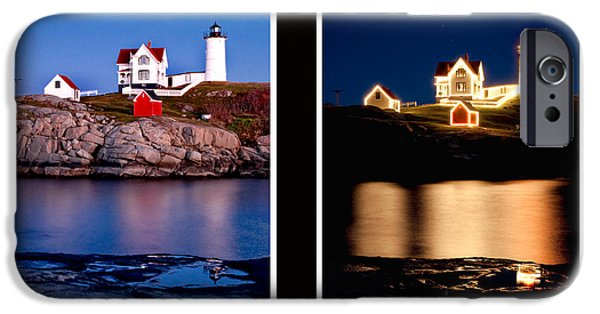 Nubble Lighthouse iPhone Cases - Combined Nubble iPhone Case by Greg Fortier