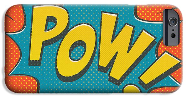 Superheroes iPhone 6 Case - Comic Pow by Mitch Frey