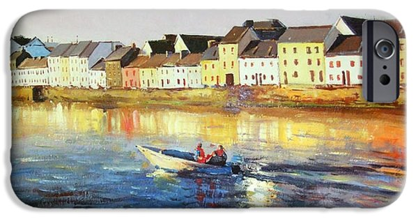 Boats In Water Paintings iPhone Cases - Coming Home iPhone Case by Conor McGuire