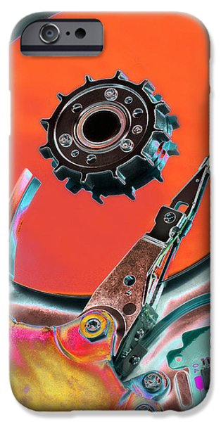 Disc iPhone Cases - Computer Hard Disc iPhone Case by Mark Sykes