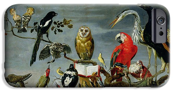 Large iPhone Cases - Concert of Birds iPhone Case by Frans Snijders