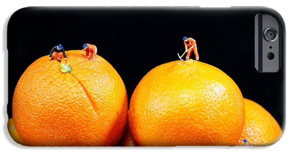 Best Sellers -  - Toy Store iPhone Cases - Construction on oranges iPhone Case by Paul Ge