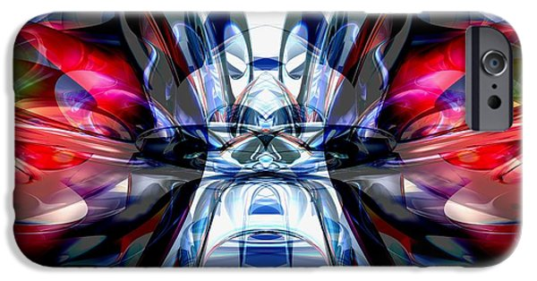 Concentration Digital iPhone Cases - Convergence Abstract iPhone Case by Alexander Butler
