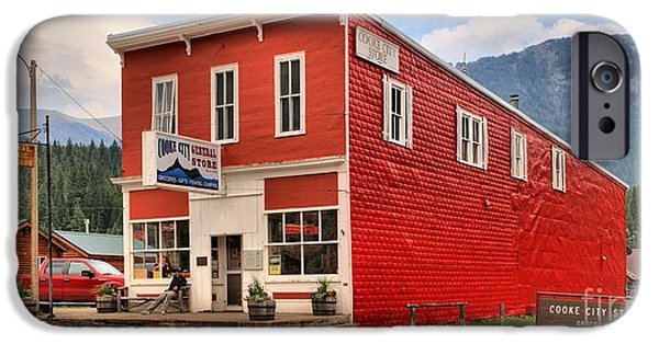 Historic Site iPhone Cases - Cooke City Store iPhone Case by Adam Jewell