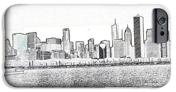 Willis Tower iPhone Cases - Cooler by the lake iPhone Case by David Bearden