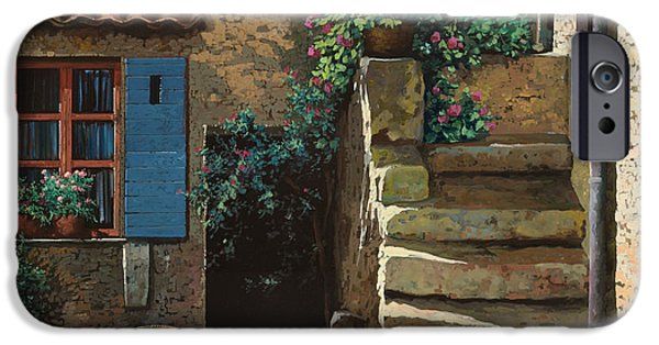 Stairs iPhone Cases - Cortile Interno iPhone Case by Guido Borelli