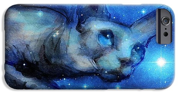 iPhone 6 Case - Cosmic Sphynx Painting By Svetlana by Svetlana Novikova