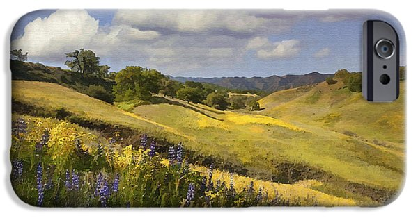 Field. Cloud iPhone Cases - Cottonwood Canyon iPhone Case by Sharon Foster