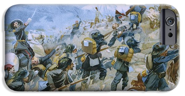 Horseback Riding iPhone Cases - Crimean War and The Battle of Chernaya iPhone Case by Italian School