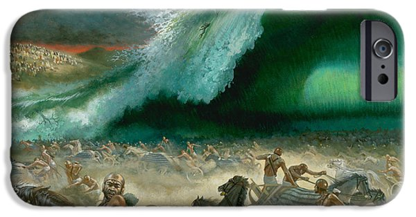 Sea iPhone Cases - Crossing the Red Sea iPhone Case by Anonymous