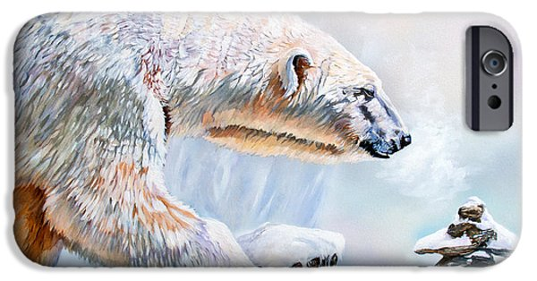 Wildlife Mixed Media iPhone Cases - Crossroads iPhone Case by J W Baker