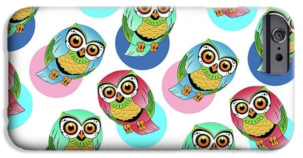 Dissing iPhone 6 Case - Cute Birds 2 by Mark Ashkenazi