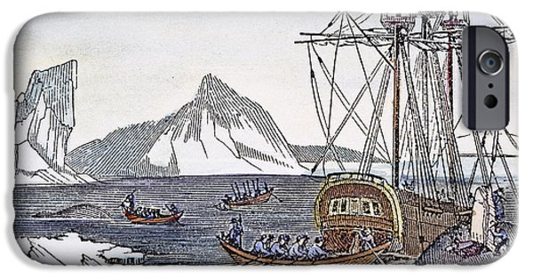 1840 iPhone Cases - CUTTING UP A WHALE, c1840 iPhone Case by Granger