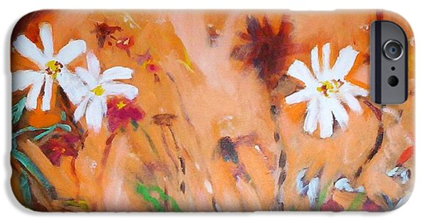 Daisies Along The Fence IPhone 6 Case by Winsome Gunning