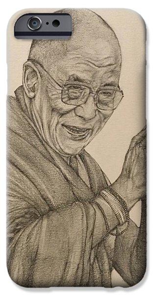 Dalai Lama Tenzin Gyatso IPhone 6 Case by Kent Chua