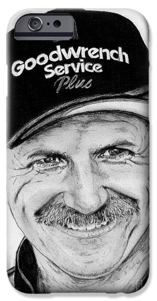 Racing iPhone Cases - Dale Earnhardt Sr in 2001 iPhone Case by J McCombie