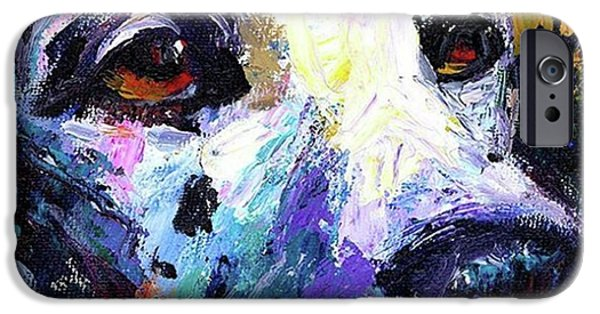 iPhone 6 Case - Dalmatian Dog Close-up Painting By by Svetlana Novikova