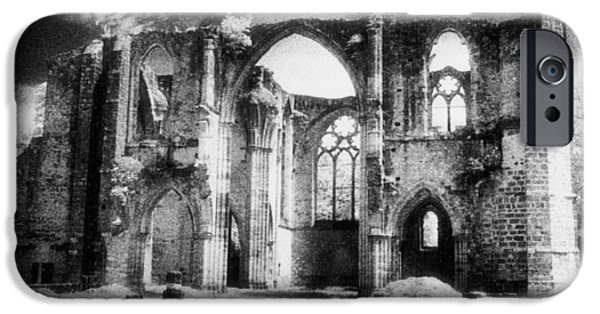 Remains iPhone Cases - Dammarie les Lys Abbey iPhone Case by Simon Marsden