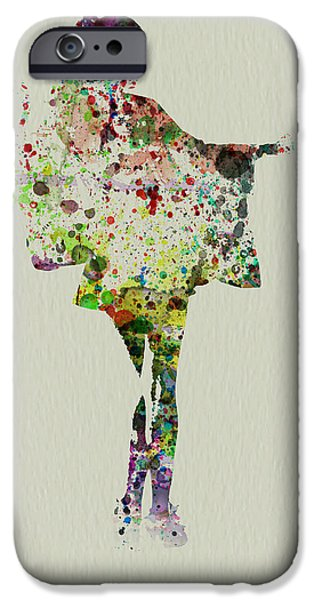 Dancing Girl Paintings iPhone Cases - Dancing Geisha iPhone Case by Naxart Studio