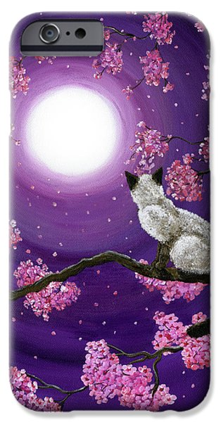Cherry Art iPhone Cases - Dancing Pink Petals iPhone Case by Laura Iverson