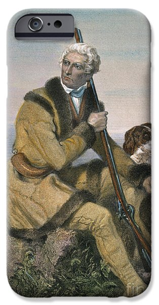 Destiny iPhone Cases - Daniel Boone (1734-1820) iPhone Case by Granger