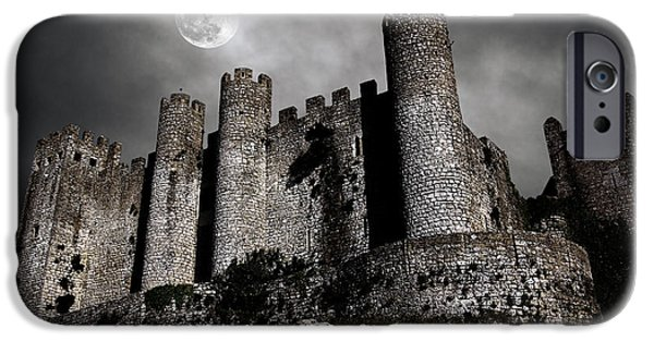 Ancient iPhone Cases - Dark Castle iPhone Case by Carlos Caetano