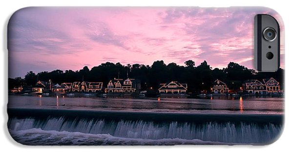 Phillies Digital iPhone Cases - Dawn at Boathouse Row iPhone Case by Bill Cannon