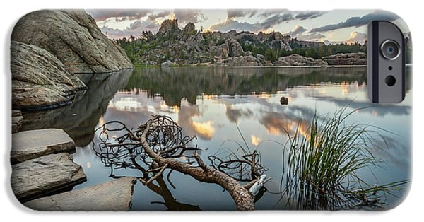 IPhone 6 Case featuring the photograph Dawn At Sylvan Lake by Adam Romanowicz