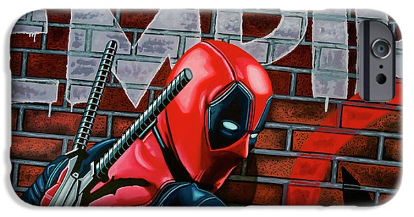 20th iPhone 6 Case - Deadpool Painting by Paul Meijering