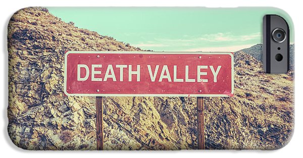 Landscapes iPhone 6 Case - Death Valley Sign by Mr Doomits