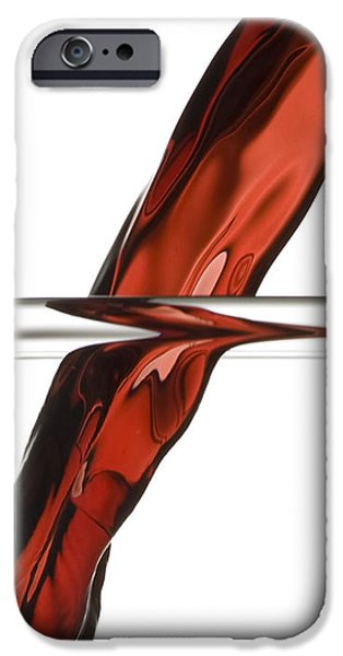 Symmetrical Photographs iPhone Cases - Decanting Wine iPhone Case by Frank Tschakert