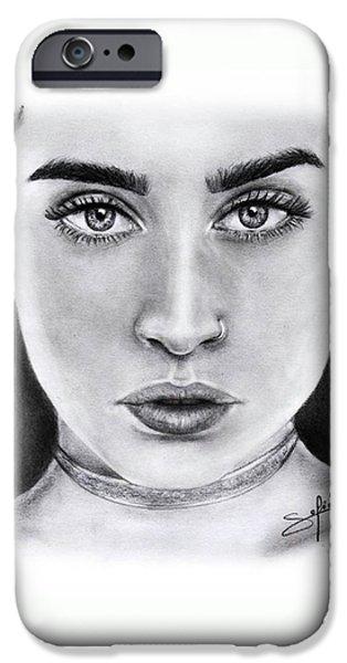 Lauren Jauregui Drawing By Sofia Furniel  IPhone 6 Case