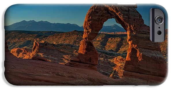 Delicate iPhone Cases - Delicate Arch At Sunrise iPhone Case by Rick Berk